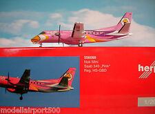 HERPA wings 1:200 saab 340 NOK mini HS-GBD pink 556088