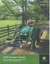 John Deere 4105 Compact Tractor Sales Brochure / Page NEW DKE2590 (07-11)