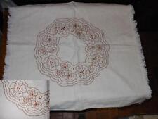 Federa copricuscino a sacco canapa fiori marroni 65x64 Hemp Pillowcase B13