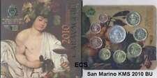 SAN MARINO offiz. euro-kms 2010 BU / stgl con plata caravaggio