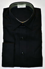 Men's KENNETH COLE Black NON IRON Dress Shirt 16 32/33 NWT NEW French Cuff