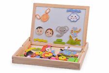 Magnetisches Holzpuzzle Montessori Spielzeug Magnettafel Kinder Jungs Mädchen