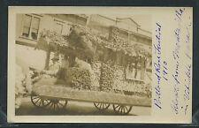 OR Portland RPPC 1910 ROSE FESTIVAL PARADE Float fm Montavilla in Vehicle Parade