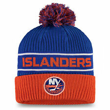 Fanatics New York Islanders Authentic Pro Locker Room Beanie Cuff with Pom