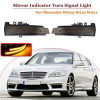 2x Dynamische Spiegel Blinker Außenspiegel LED für Mercedes W204 W212 W221