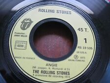 THE ROLLING STONES  Rare Import 45 rpm Made in France MINT MINUS ANGIE 1973