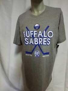 NHL 47 Brand Buffalo Sabres Winter Classic 10th Anniversary Size XL Gray T-Shirt