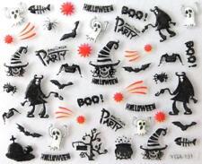 Nail art autocollants stickers ongles:Décorations Halloween fantômes araignées
