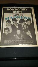 Madness Complete Madness Rare Original U.K. Promo Poster Ad Framed!