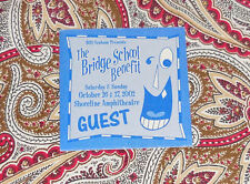 2002 BRIDGE SCHOOL BENEFIT BACKSTAGE PASS - NEIL YOUNG, THOM YORKE, OTHER ONES!