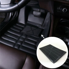 Universal Black PVC Car Floor Carpet Pad Heel Foot Mat Pedal Patch Cover 25x16cm