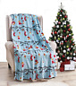 Ultra Cozy & Soft Christmas Holiday Ornaments Plush Warm Throw Blanket 50 x 60
