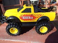 """Tonka pick uptruck 1999, flamed yellow 4x4 13"""" steel LOOK NO RESERVE"""