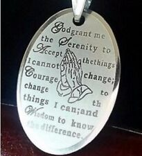 Silver English Serenity Prayer Bible Stainless Steel Pendant