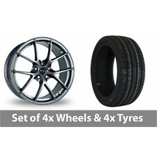 "4 x 18"" Fox Racing FX005 Grey Alloy Wheel Rims and Tyres -  225/40/18"