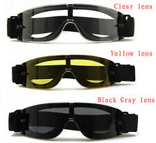 USMC Military Airsoft X800 Tactical Goggles Glasses GX1000 Black 3 Lens Shooting