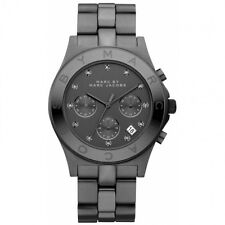 *NEW* MARC BY MARC JACOBS LADIES WATCH MBM3103 - BLADE BLACK TONE IP CHRONOGRAPH