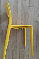Yellow plastic chair for dining area