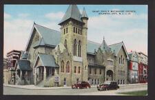 ATLANTIC CITY NEW JERSEY NJ 1956 Saint Paul's Methodist Church Cars Postcard