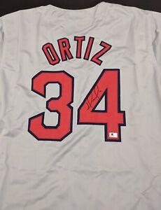 David Ortiz Boston Red Sox Autographed Signed Jersey XL COA