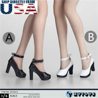 "1/6 Scale High Heel Shoes For 12"" Hot Toys TBLeague PHICEN Female Figure U.S.A."