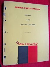 1972 NEW HOLLAND L-35 UTILITY LOADER PARTS CATALOG MANUAL