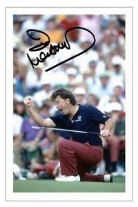 IAN WOOSNAM Signed Autograph PHOTO Fan Gift Signature Print GOLF