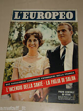 EUROPEO=1962/18=SOFIA DI GRECIA=JUAN CARLOS=FRANCE NUYEN=STIRLING MOSS=SALAN=
