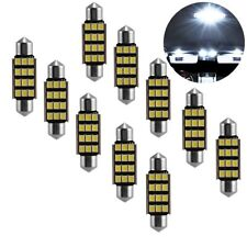 10 X 39mm 12 LED 2835 SMD C5W 6418 CANBUS Festoon Dome Light Lamp Bulb 12V White