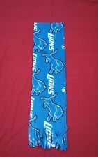 NFL FLEECE  SCARF DETROIT LIONS APPROX 60 x 6 inches  UNISEX MULTI- COLOR