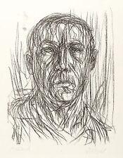 MAX UHLIG - SELBST-STUDIE - Kreidelithografie 1968