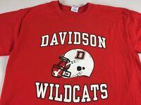 Davidson Football T-Shirt Adult SZ M/L Wildcats Steph Curry Alumni Student Grad