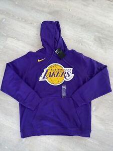 Nike Los Angeles Lakers Purple GameTime Hoodie AA3671-504 Men's Size XXL