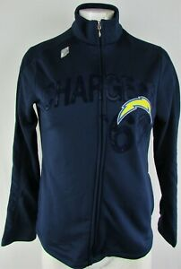 Los Angeles Chargers NFL Team Apparel Women's Navy '60 Full-Zip Track Jacket