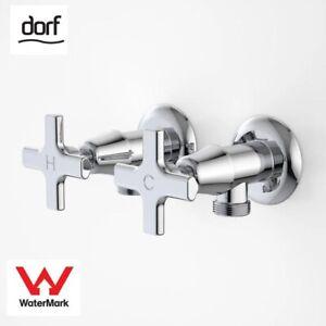 Dorf Maxum Bathroom Washing Machine Laundry Hot and Cold Tap Set - Chrome