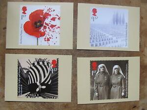 2017 GB PHQ Card / Postcards set - The Great War / World War 1
