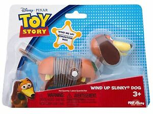 "DISNEY PIXAR ORIGINAL SLINKY DOG WIND UP TOY -  4"" SMALL 18M+ TOY STORY"
