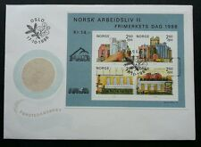 Norway Industry 1986 Factory Manufacturing Working (miniature FDC)