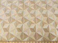 STARLIGHT CAFE AU LAIT HOME ACCENT Geometric Drapery Upholstery Jacquard Fabric