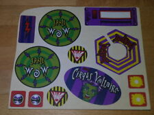 3M Circus Cirqus Voltaire 12 licensed decals sheet Bally pinball