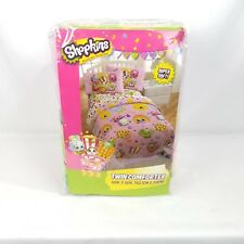 Shopkins Twin Comforter 64x86 Polyester Pink Food Cookies Super Soft NEW