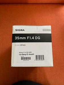Sigma 35mm F1.4 DG Art Lens for Sony E-Mount