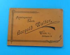 1880's BRASS FURNITURE - LEOPOLD WALTER, WIEN Austria-Hungary antique catalog RR
