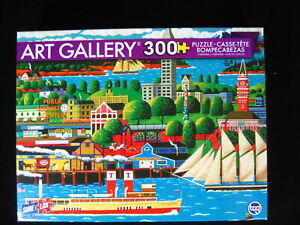 Seattle Washington Vintage Seaside 300 Pc Jigsaw Puzzle Art Gallery 19 x 13  NEW