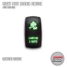 GREEN Laser Etched LED Rocker Switch Dual Light 20A 12V ON OFF - LANDING LIGHTS