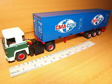 SCANIA LBT 141 1:43 CMA CGM CONTAINERS CAMION TRUCK&TRAILER ALTAYA SEMI REMORQUE