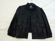 Unwanted 90% New Armani Exchange lambskin Leather Jacket Rare Quarter sleeve