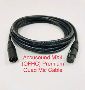 10' Accusound MX4 (OFHC) Premium Quad Microphone Cable