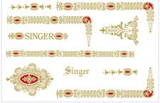 Custom Singer Featherweight 221 Sewing Machine Restoration Decals Gold Red Eye