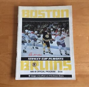 Boston Bruins 1980-81 Official NHL Stanley Cup Playoffs Program Ray Bourque